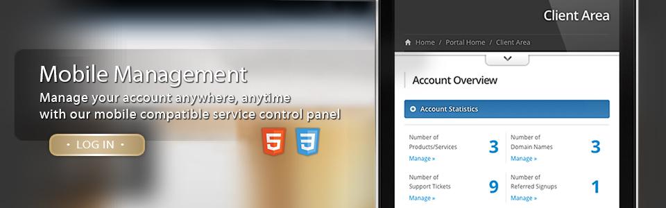 Responsive, Mobile Device Compatible Service Management Interface
